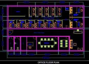 Office Floor Plan DWG Free Download