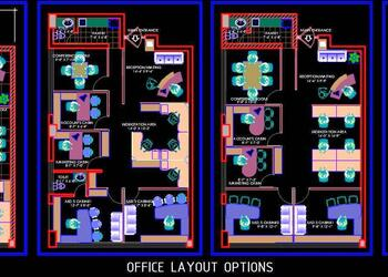 Office Interior Design Layout DWG Plans