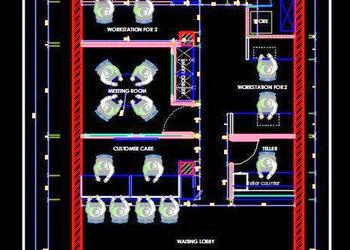 Office Layout Plan DWG File (20'x35')