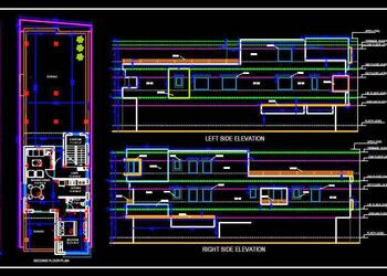 Dual House Planning (25'x75') Working Drawing Cad Detail
