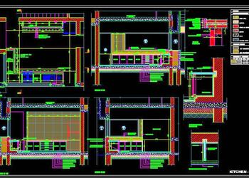 Modular Kitchen Working Drawing DWG Detail