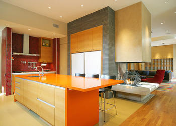 9 Bright Colored Kitchens to Buck you Up