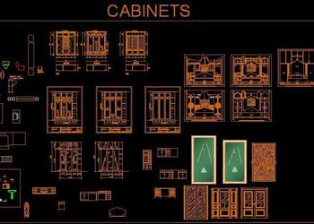 Various Cabinet Design Cad Block