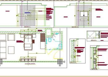 Hospital Single Room Design DWG Drawing Download
