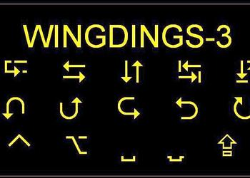 Wingdings-3 Text
