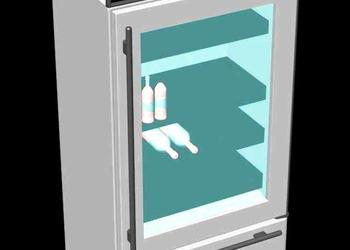 Built In Commercial Refrigerator 3d