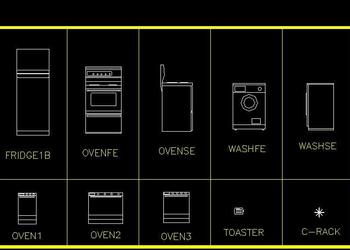 Kitchen Appliances in 2d