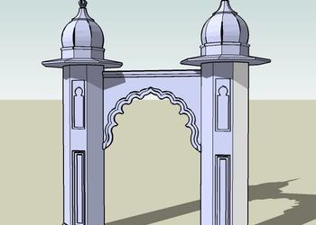 Mosque Entry Gate 3d