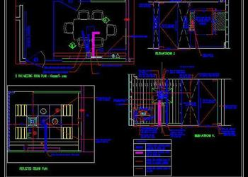 Conference_Meeting Room Audio Video DWG Detail Design