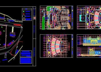 Auditorium Architecture Design Autocad DWG Drawing