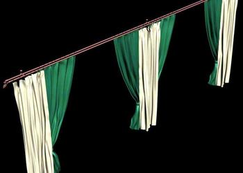 3d View of Designer Curtains Drapery