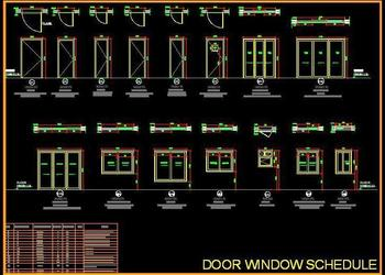 Door Window Opening Schedule