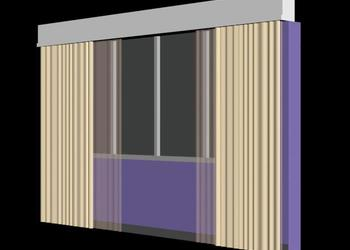 Window and Curtain 3d view