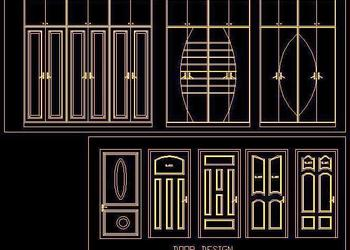 Door and Shutter Design Free Cad Block