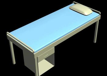 Patient Examination Bed 3d Model