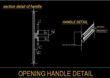Wooden Opening Handle Design
