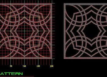 CNC Jali Design dwg cad block - | Plan n Design