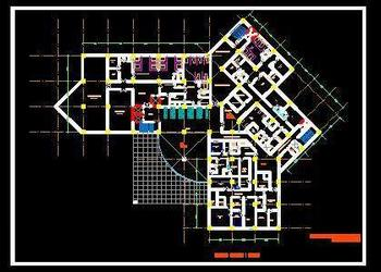 2d Cad Hospital Layout Design DWG File