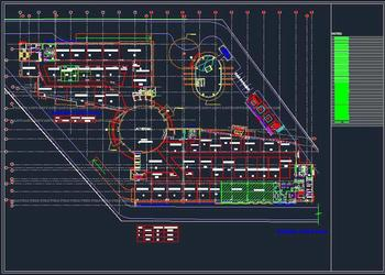 Layout Plan of Shopping mall, Complex