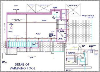 Swimming Pool Layout Plan with Jacuzzi