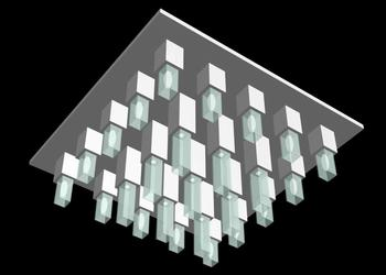 Square Chandelier 3d Design