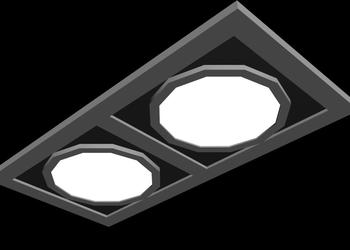 False Ceiling Light Fixture  3d Model