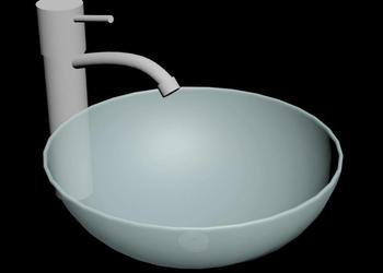 Glass Bowl Basin 3d Model