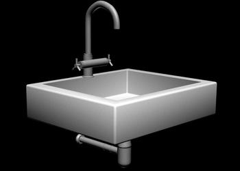 Wash Basin 3d view