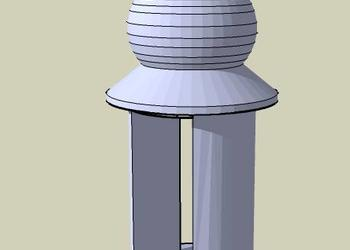 Circular Dome Chhatri 3d model