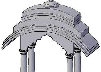 Entry Dome 3d design