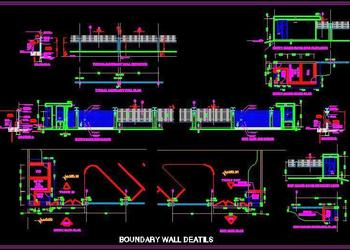 Commercial Building Boundary Wall and Main Gate design