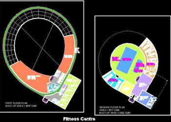 Sports Complex Architecture Layout Plan DWG Drawing