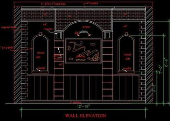 Arch as wall Elevation
