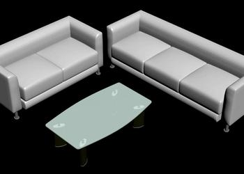 Sofa Set Table 3d model