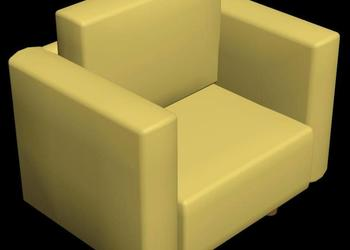 Single Seater Sofa 3d Model