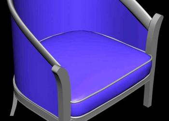 Armchair Barrel Chair 3d view