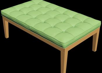 Tufted Bench 3d Model