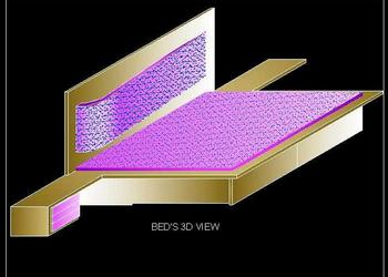 3d view of Double Bed