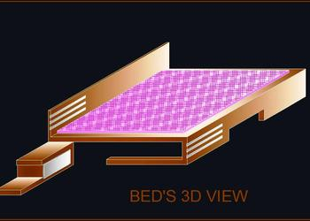 3d view of bed