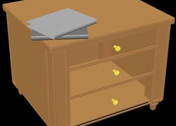 Side Table 3d View