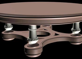 Round Coffee Table 3d view