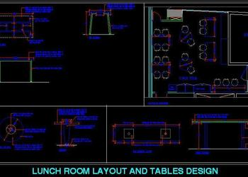 Lunch Room Layout and Table Designs