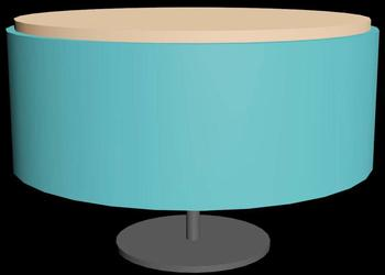 Modern Design Round Centre Table 3d