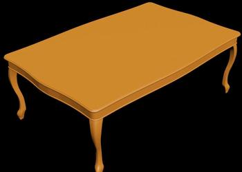 Wooden Table 3d Model