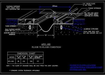 Expansion Joint Detail Floor to Floor Cad Drawing