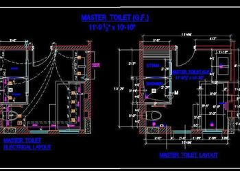 Master Bath Layout and Electrical