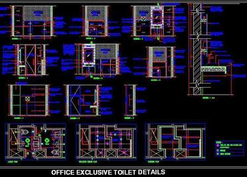 Exclusive toilet design  for office senior executive