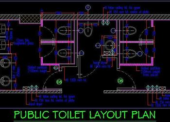 Public Toilet Layout Plan