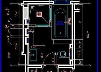 Master Toilet layout Plan