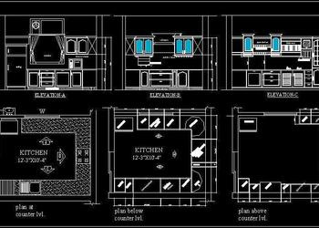U Shape Modular Kitchen Design Detail